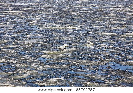 Sea Surface With Broken Ice Floes