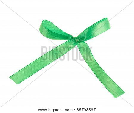 Cloth tape bow isolated