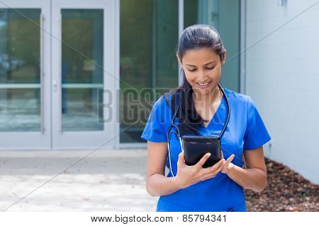 Healthcare Professional Reading Tablet