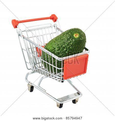 Avocado in a shipping cart