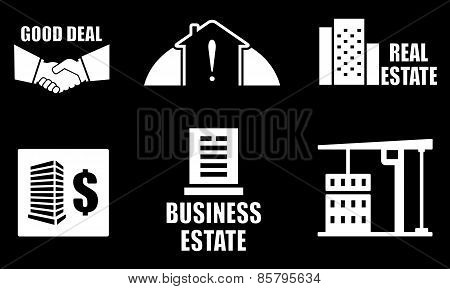 Real Estate Industry Icons Set