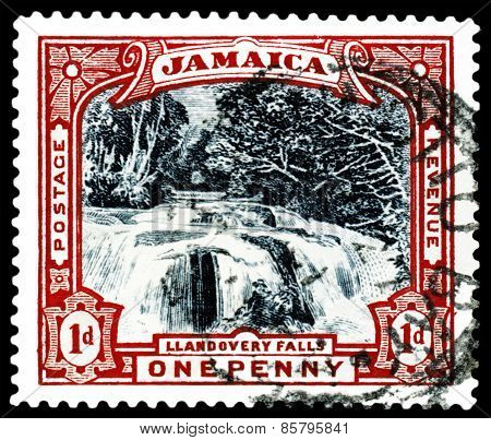 Vintage  Postage Stamp. Liandovery Falls.