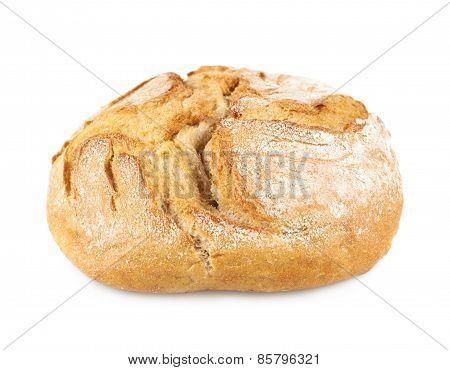 Round fresh loaf of bread