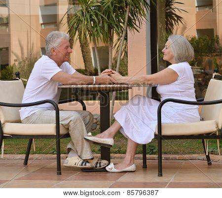 Amusing old couple