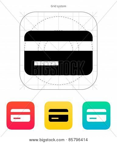 Magnetic tape credit card icon.