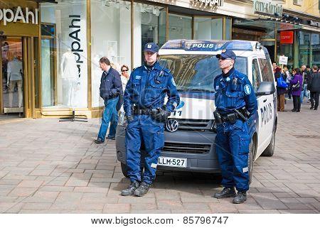 Helsinki. Finland. Finnish Police