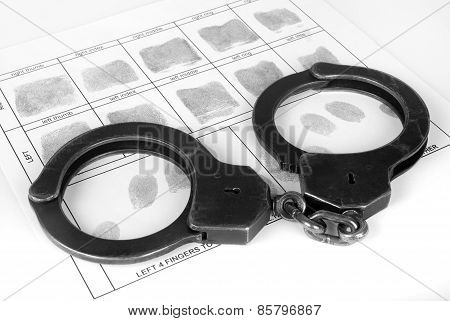 Handcuff And Fingerprint
