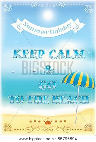Keep calm and go to the beach - Printable Image