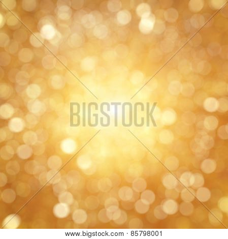 Golden texture bokeh of light. Element of design.