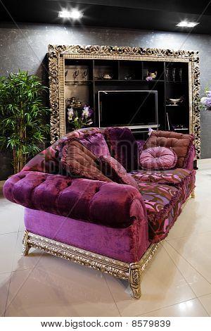 Beautiful Purple Sofa