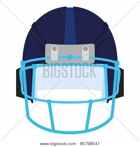 an isolated blue football helm on a white background