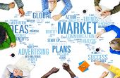 stock photo of globalization  - Market Business Global Business Marketing Commerce Concept - JPG