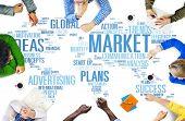 foto of marketing plan  - Market Business Global Business Marketing Commerce Concept - JPG