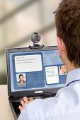 image of video chat  - online customer support  - JPG