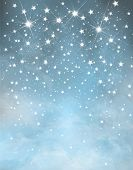 image of starry night  - Night blue starry  sparkling sky  vertical background - JPG