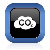 picture of carbon-dioxide  - carbon dioxide square glossy icon co2 sign  - JPG