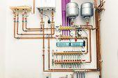 pic of boiler  - independent heating system in boiler - JPG