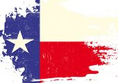 stock photo of texans  - Scratched Texas Flag - JPG