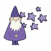 image of wizard  - cartoon magical wizard - JPG