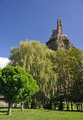 pic of michel  - The Chapel built on the top of a needle of volcanic lava called Rocher St Michel  - JPG