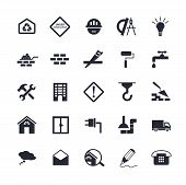 picture of truck-stop  - Simple flat building icons for web - JPG