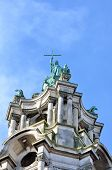 image of edwardian  - Top of Edwardian Town Hall colchester essex uk
