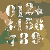 stock photo of camo  - army vector numbers camo background american military - JPG