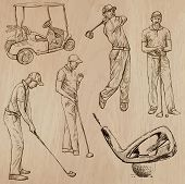 image of classic art  - GOLF Golfers Golf and Golf Equipment - JPG