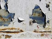 stock photo of gash  - The aging process of a painted metal plate - JPG