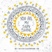 foto of sunshine  - Stylish and beautiful card with sample text  - JPG