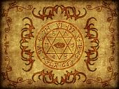 foto of pentacle  - Illustration of an ancient mystic magikal sigil - JPG