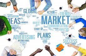 picture of marketing plan  - Market Business Global Business Marketing Commerce Concept - JPG