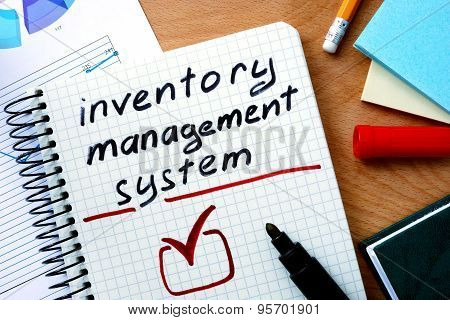 Note with words inventory management system.