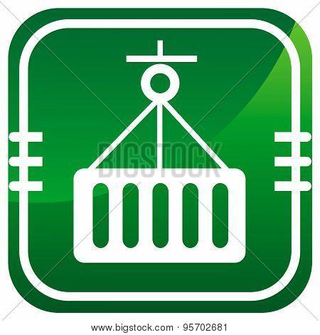 Logistic Symbol, Green Vector Icon