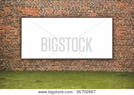 Blank Advertising Billboard On The Street