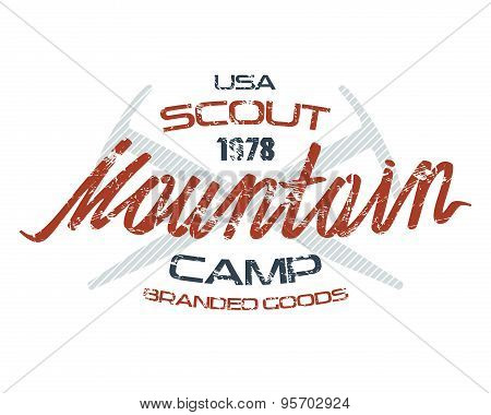 Mountain Scout Emblems  For T-shirt