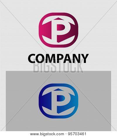 Letter P logo / symbol - vector icon