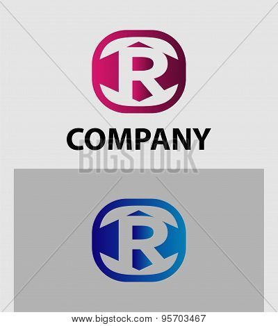 An attractive Letter R vector logo symbol