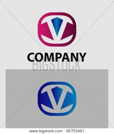 Letter V logo icon design template elements. Vector color sign