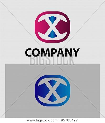 Letter X logo icon design template elements. Vector color sign