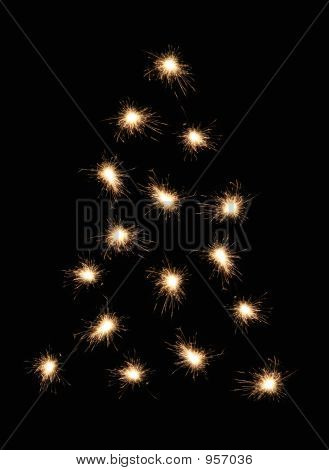 Sparkler kerstboom