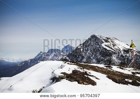 High Mountains Landscape View In Rosa Khutor