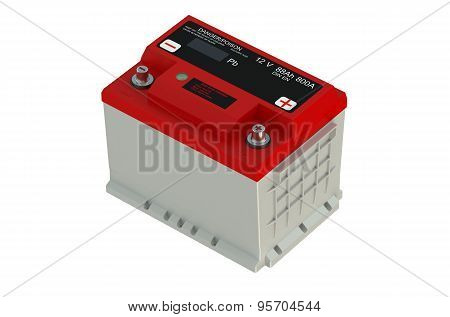 Red Battery Car
