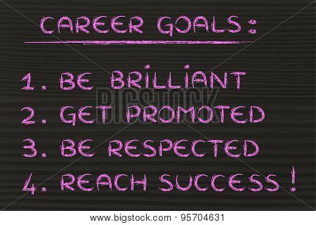 Sucessful Career Goals