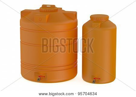 Orange Water Tanks