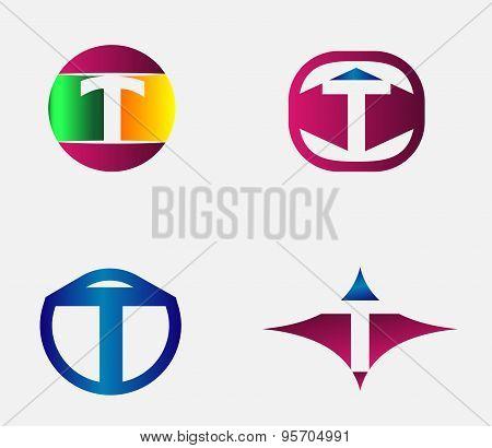 Letter T Logo vector alphabet design element template