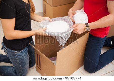 Couple Packing Together