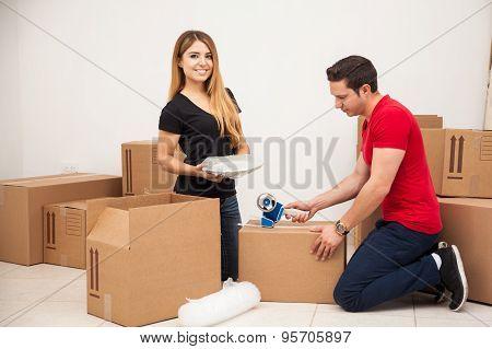 Helping My Boyfriend Pack