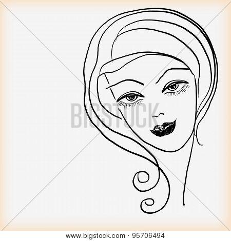 Girl's Head.