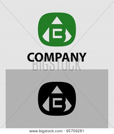 B Letter Logo Icon Design template Element